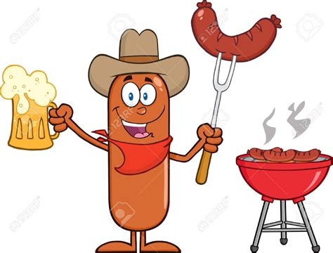 Pencil And In Color Cowboy Clipart Bbq