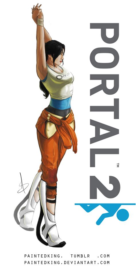 Chell Portal 2 By Paintedking On Deviantart