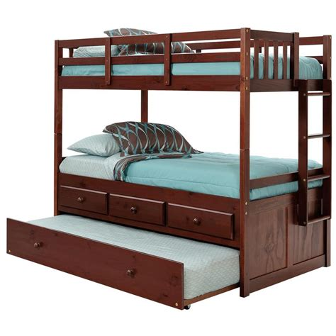 Bunk Beds With Trundle And Storage by Mission Storage Bunk Bed Trundle Unit Brown
