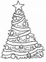 Coloring Tree Christmas Pages Colouring Trees Printable sketch template