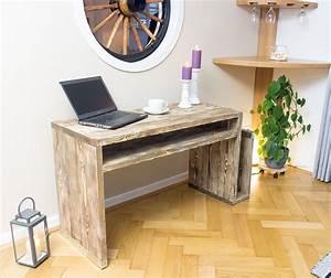Möbel Aus Gerüstbohlen : bohlenm bel vintage schreibtisch aus ger stbohlen 138x50x75cm obstkisten ~ Sanjose-hotels-ca.com Haus und Dekorationen