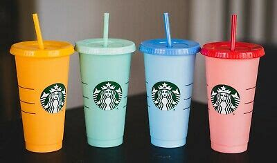 single starbucks reusable color changing cold cups summer