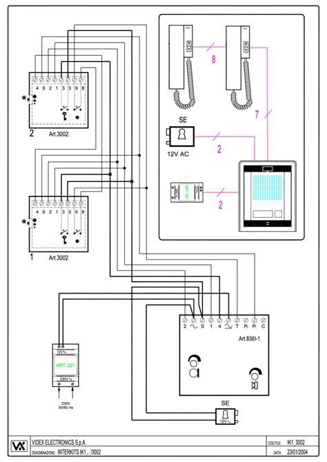urmet intercom wiring diagram 29 wiring diagram images