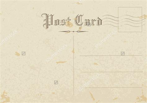 postcard templates  sample  format