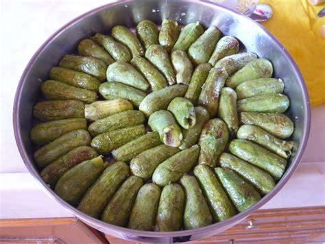 cuisine syrienne les courgettes farcies d aïsha a table
