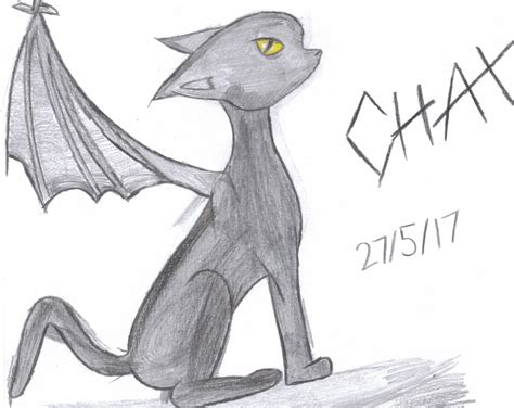 Chax The Demon Cat Drawing Practice By Heavymetalx5000 On