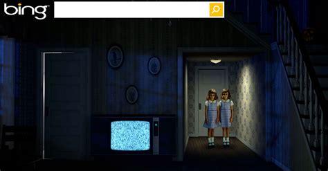 bings horror themed homepage  halloweens  dressed