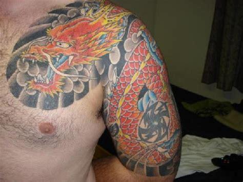 wonderful dragon shoulder tattoos