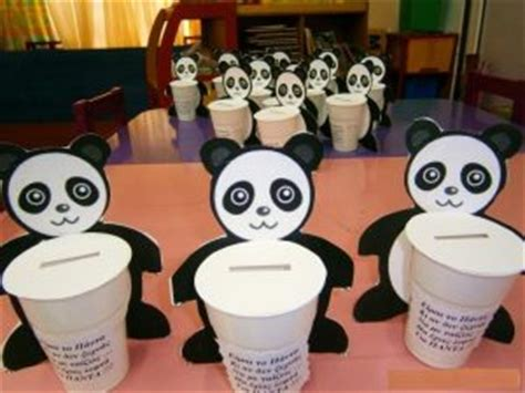 panda craft idea for crafts and worksheets for 350 | paper cup panda craft idea 300x225