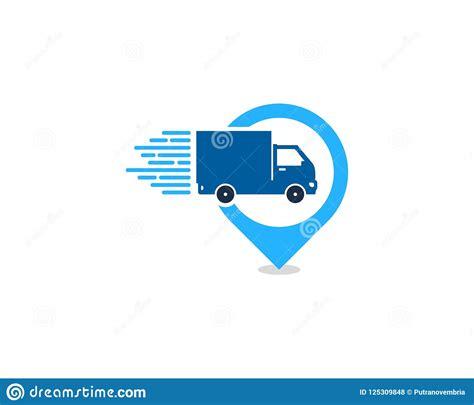 Pin Delivery Logo Icon Design Stock Vector - Illustration ...