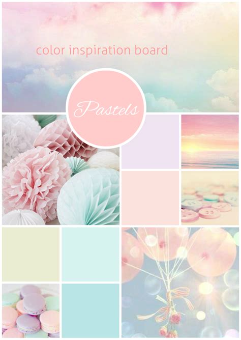 pastel color inspiration board created on www sleboard