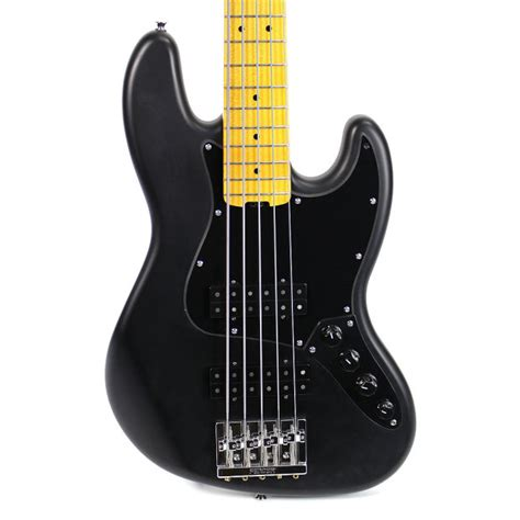 fender modern player jazz bass v satin black reverb