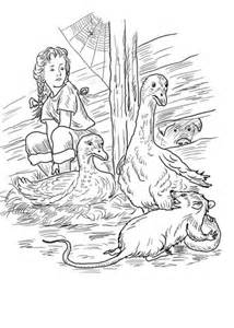 charlotte fern gooses templeton  wilbur coloring