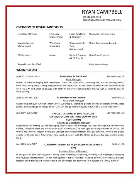 19407 sle hostess resume resume cbell