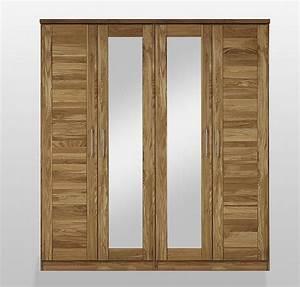 Schlafzimmerschrank Mit Spiegel : kleiderschrank 4t rig 2 spiegel mit kranz wildeiche massiv ge lt ~ Orissabook.com Haus und Dekorationen