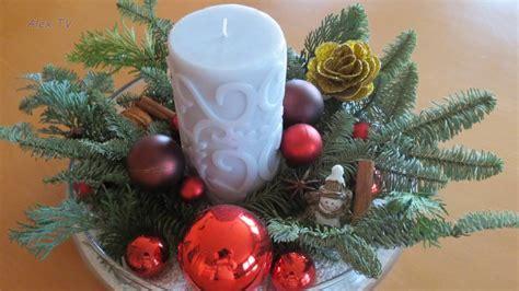 Weihnachtsdeko Ideen  Adventsgesteck (20 Bilder) Youtube