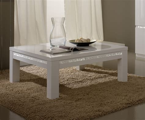 table basse carree blanche table basse carr 233 e design laqu 233 e blanche medusa tables