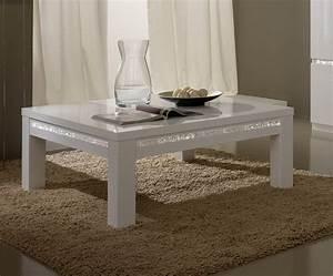 Table Basse Blanche Design : table basse carr e design laqu e blanche medusa soldes ~ Preciouscoupons.com Idées de Décoration