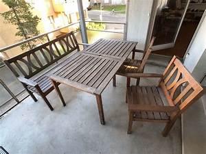 Gartentisch Mit Stühlen : gartentisch mit 2 st hlen und sitzbank kaufen auf ricardo ~ A.2002-acura-tl-radio.info Haus und Dekorationen