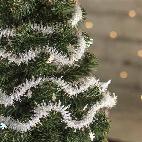 snowflake tinsel garland christmas garlands christmas