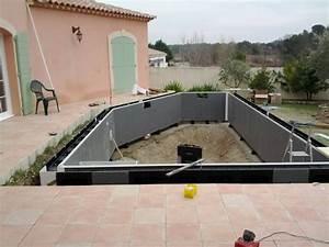 Piscine En Kit Enterrée : inspiration piscine en kit semi enterr e beton ~ Melissatoandfro.com Idées de Décoration
