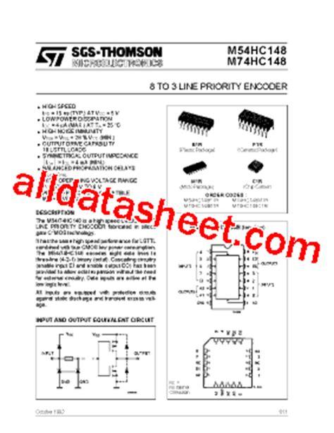 74HC148 Datasheet(PDF) - STMicroelectronics
