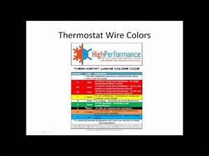 Hvac Thermostat Wiring Color Code : air conditioner thermostat wiring and colors code youtube ~ A.2002-acura-tl-radio.info Haus und Dekorationen