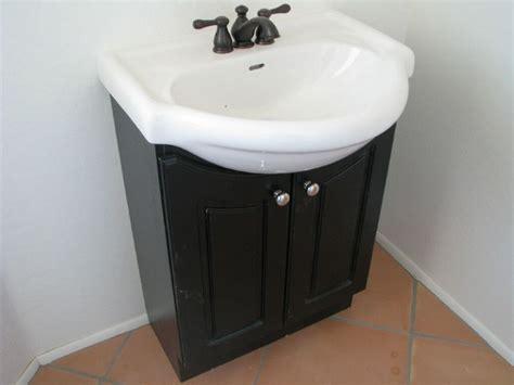 Pedestal Sink Storage Cabinet Black