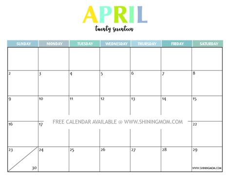monthly calendar template 2017 your free 2017 printable calendar and colorful
