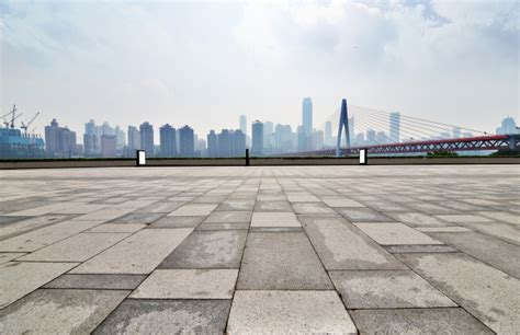 city top flore background d pavement with buildings background photo free