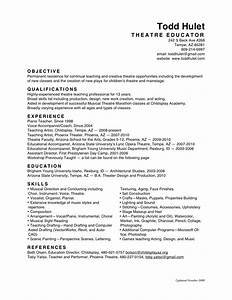 all resumes todd hulet With education resume