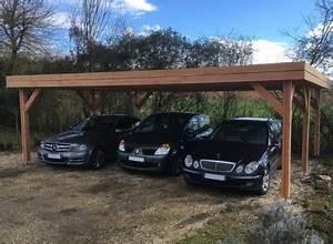Faire Un Carport : carport 3 voitures abri triple pour voitures en bois ~ Premium-room.com Idées de Décoration
