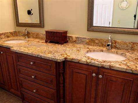 granite bathroom countertops with dual sinks amazing