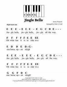 jingle bells easy pre staff music with letters for With piano music books with letters