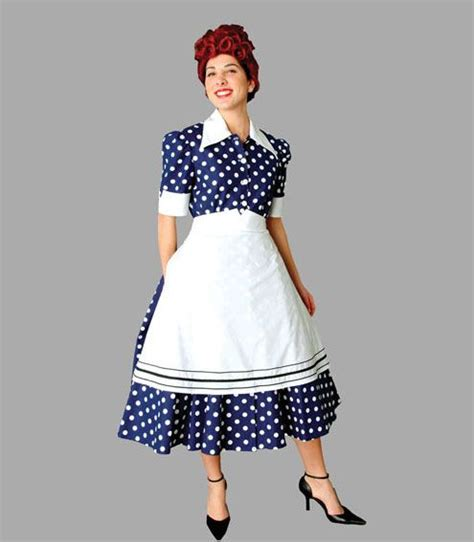 Deluxe Lucille Ball 'i Love Lucy' Costume 50's Housewife