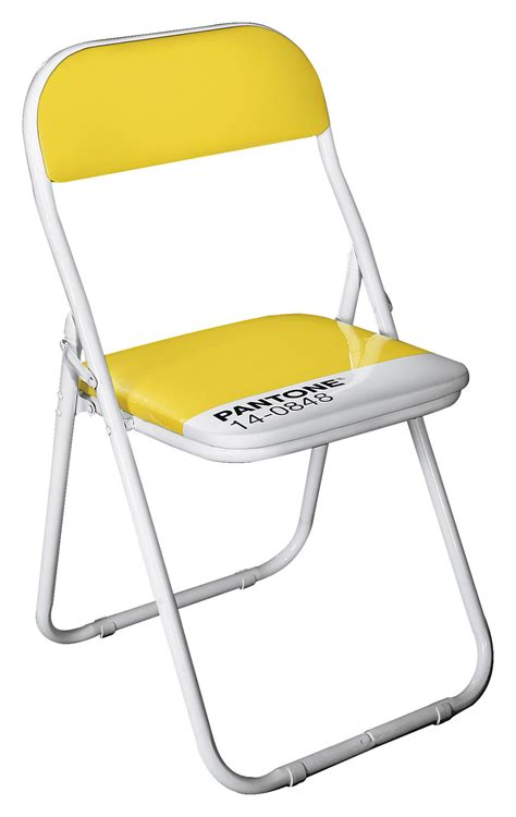chaise pantone chaise pliante pantone 14 0848 jaune mimosa seletti