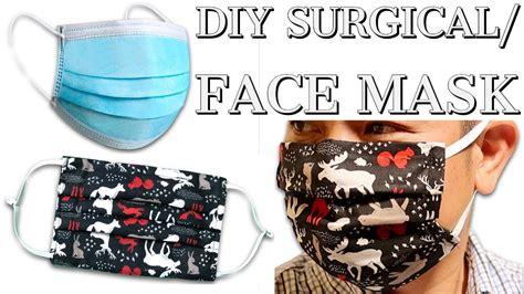 diy surgicalface mask  filter flexible nose