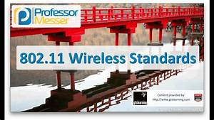 802 11 Standards Chart 802 11 Wireless Standards Comptia Network N10 006 5 3