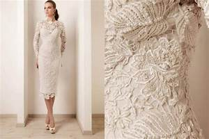 the crocheted wedding dress onewed With crochet lace wedding dress