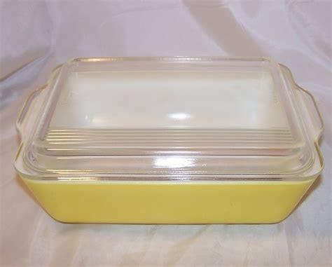 pyrex glass baking dish lid yellow yummy refrigerator
