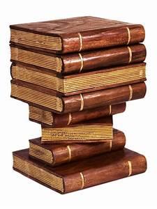 Bout De Canapé En Bois : bout de canap original en bois trompe l 39 oeil livres ~ Teatrodelosmanantiales.com Idées de Décoration