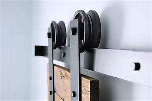 double modern sliding barn door hardware kit hingeless With barn door track wheels
