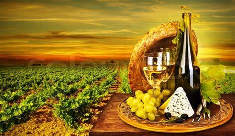 wine  cheese romantic dinner stock photo colourbox