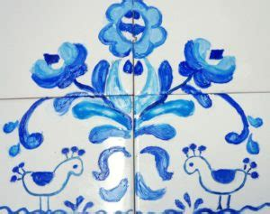 como pintar  oleo sobre azulejo