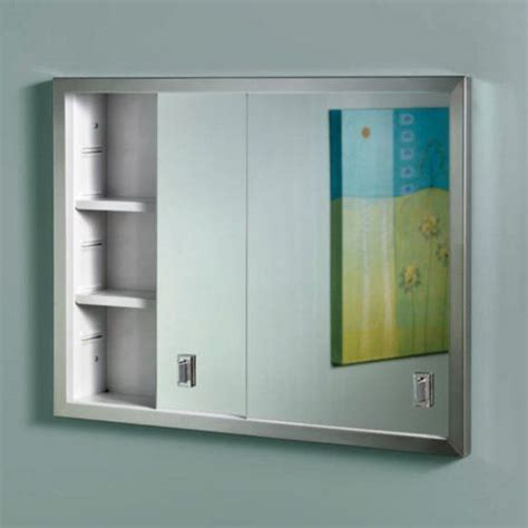 Broan Medicine Cabinets Recessed by Broan Nutone Contempra 24w X 19h In Recessed Medicine