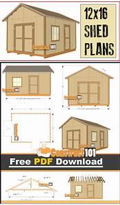 12x16 Shed Plans - Gable Design - PDF Download - Construct101
