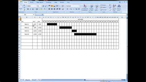 excel tutorial  interactive visual schedule gantt