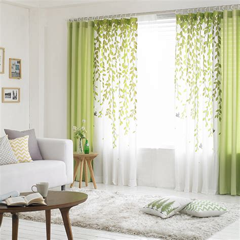 lime green and white leaf print poly cotton blend country