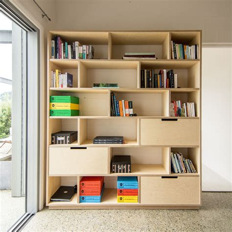 Plywood Bookcase by Plywood Bookshelf And Office Storage In 2019 Salon