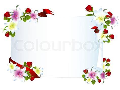 lilie vorlage illustration der vorlage mit lilie und vektorgrafik colourbox